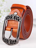 cheap -Women's Leather Waist Belt,Brown Black Red Camel Vintage Buckle