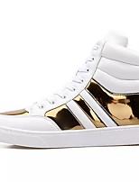 Недорогие -Муж. обувь Искусственное волокно Весна Осень Удобная обувь Кеды для Повседневные Белый Черный