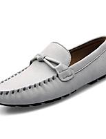 Недорогие -Муж. обувь Полиуретан Зима Осень Удобная обувь Мокасины Мокасины и Свитер для Повседневные Черный Серый Синий Винный
