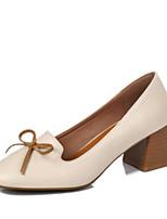 economico -Da donna Scarpe PU (Poliuretano) Autunno Comoda Tacchi Quadrato Appuntite Punta chiusa per Casual Bianco Rosa