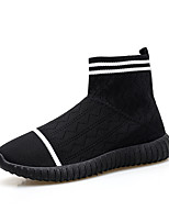 cheap -Women's Shoes Knit Spring Fall Comfort Loafers & Slip-Ons Walking Shoes Flat Heel Round Toe Booties/Ankle Boots Appliques for Casual