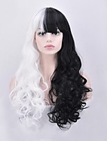 cheap -Women Synthetic Wig Capless Long Body Wave Black White Ombre Color Hair Natural Wigs Costume Wig