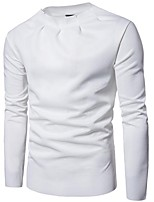 cheap -Men's Petite Daily Casual Sweatshirt Solid Round Neck Micro-elastic Cotton Long Sleeve Spring/Fall Autumn/Fall