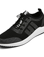 cheap -Men's Shoes Rubber Spring Fall Comfort Sneakers for Casual Outdoor Black Silver