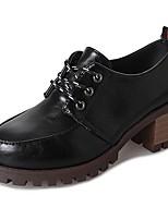preiswerte -Damen Schuhe Gummi Sommer Herbst Komfort Outdoor Blockabsatz Runde Zehe für Draussen Schwarz Orange Beige