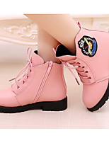 cheap -Girls' Shoes Leatherette Winter Fall Comfort Snow Boots Boots Booties/Ankle Boots for Casual Burgundy Pink Black