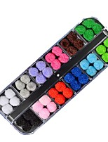 cheap -Ornaments Circular Nail Art DIY Tool Accessory Multi-colored Nail Art Design