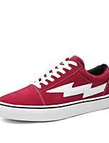 Недорогие -Муж. обувь Резина Весна Осень Удобная обувь Кеды для на открытом воздухе Черный Красный Хаки