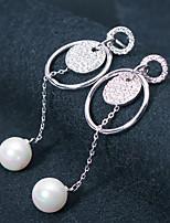 cheap -Women's Stud Earrings Hoop Earrings Rhinestone Imitation Pearl Rhinestone Jewelry Wedding Party Costume Jewelry