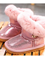 cheap -Girls' Shoes Cowhide Winter Fall Comfort Snow Boots Boots Booties/Ankle Boots for Casual Pink Gray Black