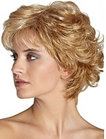 cheap -Women's Synthetic Wigs golden Short Curly Hair Capless Wig Natural Wigs