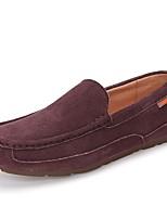 Недорогие -Муж. обувь Натуральная кожа Свиная кожа Весна Осень Мокасины Обувь для дайвинга Мокасины и Свитер для Повседневные Черный Темно-синий
