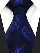 economico -Per tutte le stagioni Seta Vintage Da ufficio Casual Cravatta Blu