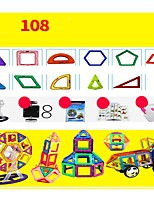 cheap -Magnetic Blocks 108 pcs Parent-Child Interaction Transformable Toy Construction Vehicle Plane Round Square Warrior Car Children's Gift