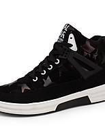 Недорогие -Муж. обувь Резина Зима Осень Удобная обувь Кеды для на открытом воздухе Черный Черный/Красный Черный / синий