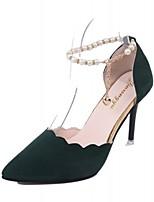abordables -Femme Chaussures Polyuréthane Printemps Automne Confort Chaussures à Talons Talon haut Bout pointu pour Décontracté Noir Rouge Vert Rose