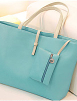 cheap -Women's Bags PU Bag Set 2 Pieces Purse Set Buttons for Casual All Seasons Yellow Beige Black Blue
