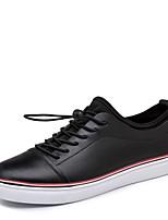 Недорогие -Муж. обувь Кожа Наппа Leather Весна Осень Обувь для дайвинга Удобная обувь Кеды для Повседневные Офис и карьера Белый Черный