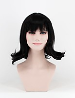 cheap -European and American fashion wigs in sub-Qi Liu black pear head high-temperature silk wig