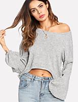 abordables -Tee-shirt Femme, Couleur Pleine Coton