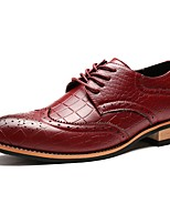 cheap -Men's Shoes Synthetic Microfiber PU Spring Fall Driving Shoes Formal Shoes Oxfords for Casual Office & Career Burgundy Brown Black