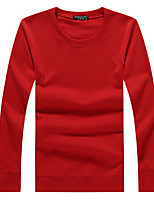 cheap -Men's Sports Holiday Sweatshirt Solid Round Neck Micro-elastic Polyester Long Sleeves Fall Winter