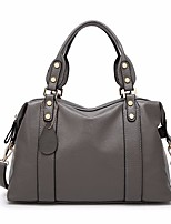 cheap -Women Bags PU Tote Zipper for Outdoor All Season Dark Grey Red Black Blue
