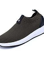 Недорогие -Муж. обувь Полиуретан Весна Осень Удобная обувь Кеды для Повседневные Черный Серый Зеленый Черно-белый