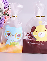 cheap -Square Shape Creative Plastic Favor Holder with Pattern Favor Bags - 50