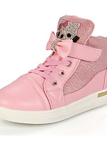 cheap -Girls' Shoes Synthetic Microfiber PU Spring Fall Comfort Sneakers for Casual Pink Silver Gold