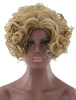 cheap -Synthetic Hair Wigs Curly Afro Capless Party Wig Natural Wigs Cosplay Wig Blonde