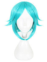 cheap -Synthetic Hair Wigs Straight Capless Cosplay Wig Green