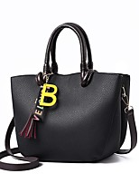 cheap -Women's Bags PU Tote Zipper for Casual Office & Career All Seazons Khaki Wine Dark Green Yellow Gray