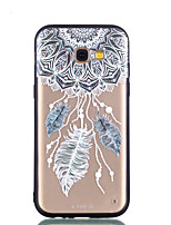cheap -Case For Samsung Galaxy A8 Plus 2018 A8 2018 Transparent Embossed Pattern Back Cover Feathers Dream Catcher Hard PC for A5(2018) A7(2018)