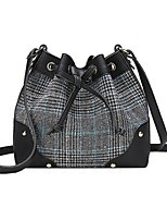 cheap -Women Bags PU Polyester Tote Beading Zipper for Casual All Season Brown Black