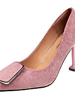 Недорогие -Обувь Полиуретан Весна Осень Удобная обувь Обувь на каблуках Высокий каблук Заостренный носок для Повседневные Черный Желтый Коричневый