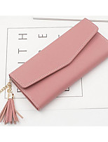 cheap -Women Bags PU Wallet Tassel for Casual Outdoor All Season Sky Blue Light Grey Blushing Pink Black