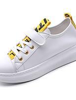 preiswerte -Damen Schuhe PU Frühling Herbst Komfort Sneakers Flacher Absatz Runde Zehe für Normal Gelb Grün Blau
