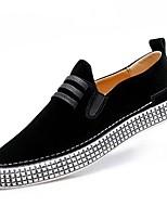 Недорогие -Для мужчин обувь Полиуретан Весна Осень Удобная обувь Мокасины и Свитер для Повседневные Черный Хаки