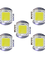 cheap -70W COB 5600LM 3000-3200K/6000-6200K Warm White/White LED Chip DC30-36V 5Pcs