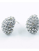 cheap -Women's Stud Earrings Rhinestone Lovely Sweet Alloy Drop Jewelry Party Daily Costume Jewelry