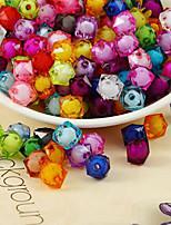 cheap -DIY Jewelry 500 pcs Beads Rainbow Square Acrylic Bead 1 cm DIY Bracelet Necklace