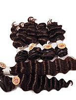 Недорогие -Бразильские волосы Не подвергавшиеся окрашиванию Прямой Крупные кудри Ткет человеческих волос 1шт Волосы Уток с закрытием