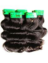 abordables -Pas cher indien remy vague de corps de cheveux humains 5 faisceaux 250g lot 6a qualité de qualité douce texture naturelle couleur noire
