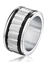 cheap -Men's Women's Band Rings Simple Casual Stainless Steel Jewelry Gift Evening Party
