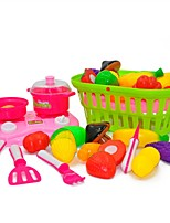 cheap -Toy Kitchens & Play Food Toys Any Shape Food & Beverages Simulation Parent-Child Interaction ABS Child Adults' 18 Pieces