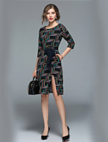 cheap -Women's Work Casual Street chic A Line Dress Print