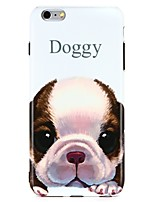 abordables -Coque Pour Apple iPhone 7 iPhone 6 IMD Motif Coque Arrière Mot / Phrase Animal Flexible TPU pour iPhone 7 Plus iPhone 7 iPhone 6s Plus