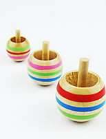 cheap -Spinning Top Toy Toys Round Wooden Family Modern Style Pieces Boys' Girls' Children's Day Gift