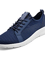 cheap -Shoes PU Spring Fall Comfort Sneakers for Outdoor Black Gray Blue